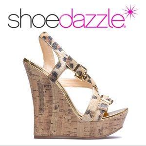 NWOB•Shoedazzle•Faux Fur Animal Print Wedges•Flora